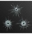 Bullet Holes Template vector image