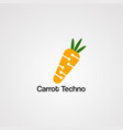 carrot techno logo icon element and template for vector image vector image