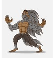 Cartoon werewolf and vector image vector image