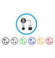 cashflow scheme rounded icon vector image vector image