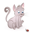 cat storit to a bug vector image vector image