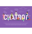 Chatbot concept vector image vector image