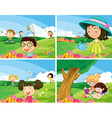 Children outdoor vector image vector image