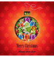 Christmas with abstract ball design vector image