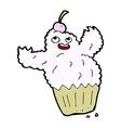 comic cartoon cupcake monster vector image