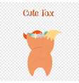 cute fox rear view on transparent background vector image