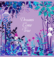 decorative floral frame with forest elements vector image vector image