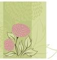 Design of flowers Flower background vector image