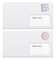 envelopes with a stamp vector image vector image