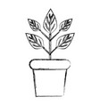 figure plant inside flowerpot to ecology vector image vector image