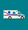 flat ambulance car isolated vector image vector image