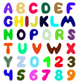 Funny font vector image