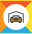 garage colorful outline symbol premium quality vector image vector image