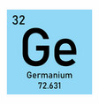 germanium chemical element vector image vector image