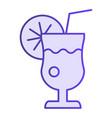glass of lemonade flat icon fresh drink violet vector image vector image