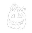 halloween pumpkin with lines vector image vector image
