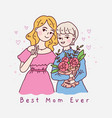 happy friendship day mother and daughter vector image