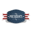 Happy Presidents Day blue striped Label vector image vector image