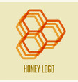 honeycomb bee icon logo concept design vector image vector image