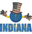 Indiana ball with American hat and hands vector image vector image