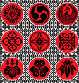 japan ornament elements vector image vector image