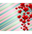 Lovely striped Valentines day themed background vector image