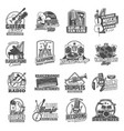 musical instruments and equipment icons vector image vector image