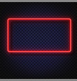 neon light rectangular banner neon light vector image