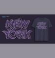 new york graphic t-shirt design typography vector image