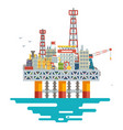 offshore platform oil production colloquially rig vector image