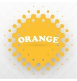 orange splash background vector image vector image
