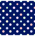 Pastel Rainbow Colorful Polka dot Blue vector image vector image