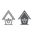 pet house line and glyph icon animal and home vector image