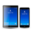 phone and tablet blue screen eps10 vector image vector image
