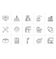 real estate hand drawn outline doodle icon set vector image
