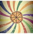 Retro pizza design vector image