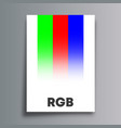 rgb color model poster for flyer brochure cover vector image