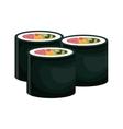 rolls suchi japanese food vector image vector image