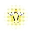 Saint angel comics icon vector image