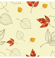 seamless background with autumn leaves vector image vector image