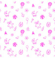 Seamless pattern for fabric with elements of vector image