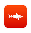 shark fish icon digital red vector image vector image