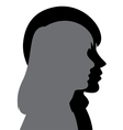 silhouette young man and woman vector image vector image