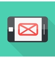 smartphone flat design letter message icon vector image