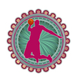 sport emblem basketball vector image