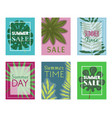 summer time set banners flyers vector image vector image