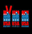 usa patriot hand set american force fist us vector image vector image