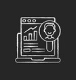 user research chalk white icon on black background vector image vector image