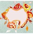 Vintage floral frame EPS 8 vector image vector image