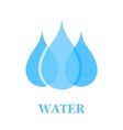 water drop sign vector image vector image